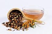 Cup of sea buckthorn tea