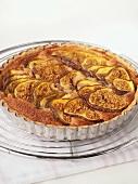 Fig tart in baking tin