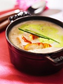 Coconut soup with haddock