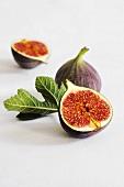 Fresh figs with leaf