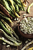 Climbing beans and wax beans