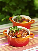 Vegetable chilli with sausage