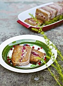 Venison terrine with cranberries