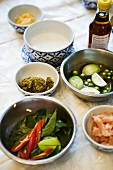 Various ingredients for Thai dishes