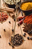 Still life with spices and scales