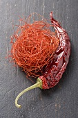 Chilli threads and dried red chilli