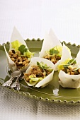 Filled rice paper shells
