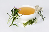Herbal tea to combat acne (yarrow, willow herb & horsetail)