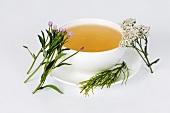 Kräutertee gegen Akne mit Schafgarbe, Weidenröschen und Zinnkraut