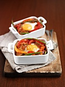 Vegetable bake with egg