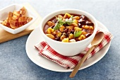 Bean and potato stew with bacon (USA)