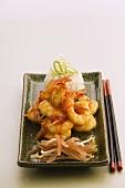 Chiligarnelen mit Reis (Asien)