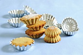 Several mini-muffins with metal muffin tins