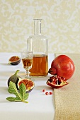 Fig schnapps and pomegranate