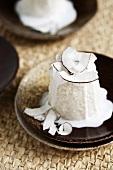 Cuzcuz de tapioca (Brazilian coconut and tapioca dessert)