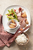 Asian-style pork fillet with tamarind and shallot sauce