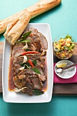 Creole roast pork neck with mango salsa