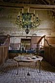 Rustic interior in Château de la Verrerie (France)