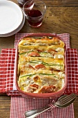 Lasagne made with escalopes