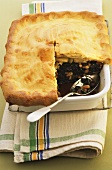 Swiss chard and apple pie with pine nuts