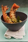 Lobster tails with Thai seasonings