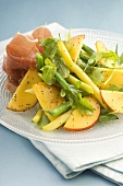 Bean and nectarine salad with prosciutto