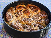 Fig pinwheels with pearl sugar
