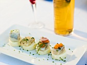 Potato and herring appetisers