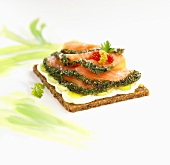 Gravlax on wholegrain bread
