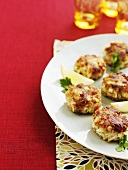 Small crab cakes