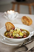 Dublin Coddle (Sausage and potato stew, Ireland)