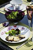 Grilled Portobello mushrooms with Brie