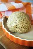 Ball of oatmeal and seed dough (for oatcakes)