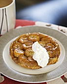 Banana Tarte Tatin with vanilla cream