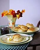 Scones with butter curl