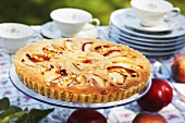 Apple cake with pine nuts