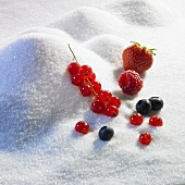 Sugar landscape with assorted berries