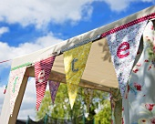 Pavilion decorated with bunting