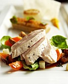 Pheasant breast with vegetables