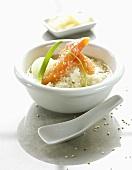Chazuke (Reissuppe, Japan) mit Lachs