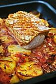 Roast pork in Retsina