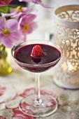 Raspberry and red wine sauce