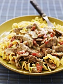 Beef ragout with pasta