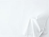 White fabric napkin