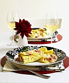 Crêpes with lobster and tarragon