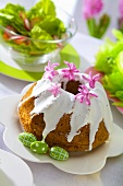 Polish iced Easter cake