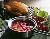 Roast duck with sour cherry sauce