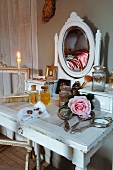Antique dressing table in country house hotel