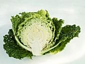 Half a savoy cabbage