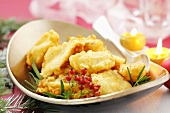 Deep-fried fish fillets (Christmas)